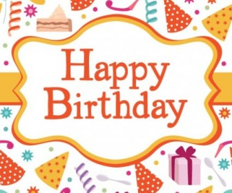 Birthday Card 04 Vector Vector Art