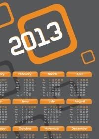 2013 Calendars Design Vector Vector Art