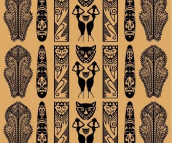 Traditional African Pattern Vector Pattern Vector Art