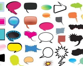 Thought And Speech Bubbles Pack Vector Art