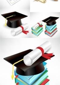 Graduation Cap And Diploma Vector Vector Art