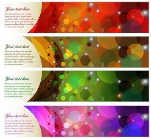 Colorful Abstract Banner Vector Banner