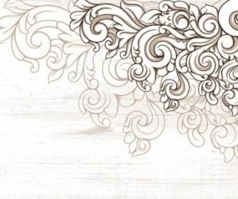 Scene When Europeanstyle Lace Border Pattern Vector 2 Pattern Vector Art