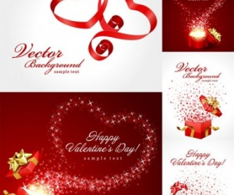 Valentine Day Gift Ribbon And Clip Art Heart Vector Art