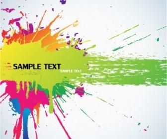 Color Splash Background Vector Background Vector Art