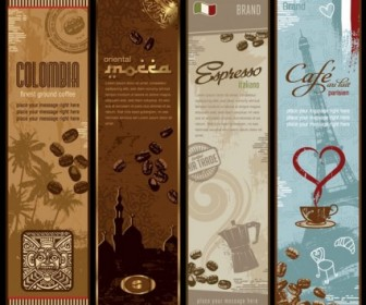 Coffee Bnner Theme Vector Vector Art