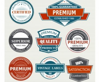 Vintage Labels Vector Art