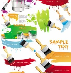 Paint Brush With Color The Vector Vector Art