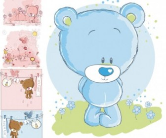 Cute Cartoon Bear Vector Cartoon Vector Art