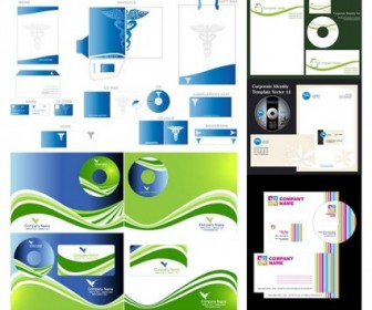 5 Sets Of Simple Business Vi Template Vector Vector Art