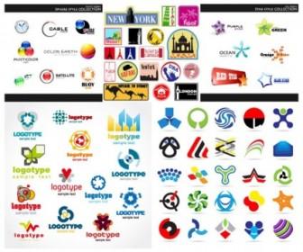 Set Of Vector Graphic Logo Vector Art