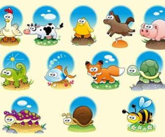 Cute Cartoon Vector Animals Cartoon Vector Art