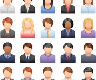 Free Vector Business People Icons Icon Vector Graphics