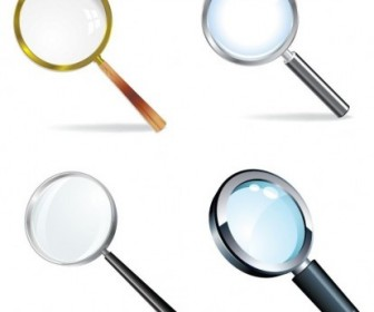 Magnifying Glass Vector Set Vector Art