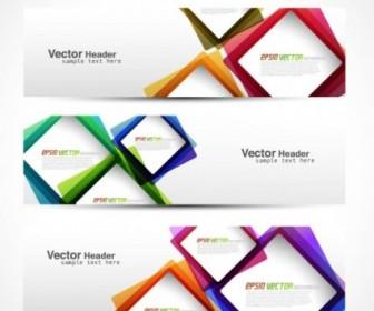 Abstract Modern Graphics Banner02 Vector Banner