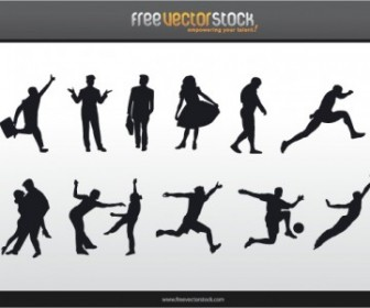 People Silhouettes People Vector Art