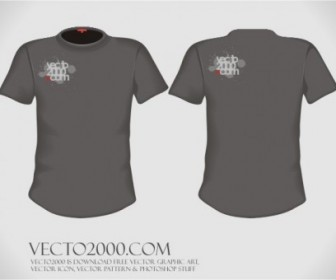 Vector Illustration: Tshirt Design Template (for Men) Vector Art
