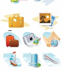Travel Theme Icon Vector Icon Vector Graphics