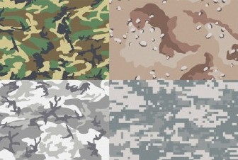 Free Camouflage Patterns For Illustrator & Photoshop Pattern Vector Art