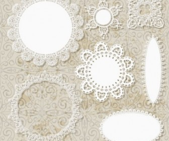 Lace Pattern Lace 02 Vector Pattern Vector Art