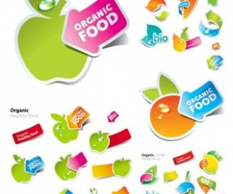 Fruits And Vegetables Vector Cute Stickers Vector Art