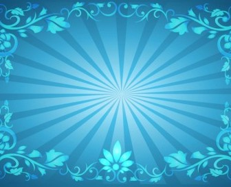 Flower Frame Sunburst Background Background Vector Art