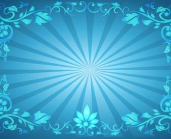 Flower Frame Sunburst Background Background Vector Art