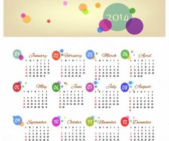 Calendar 2014 Vector Art