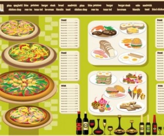 Restaurant Menu Design 04 Vector Vector Art