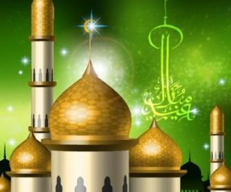 Islamicstyle Castle Vector Clip 3 Vector Art