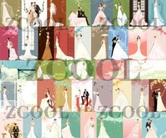 40 Zhang Meili Wedding Bride Vector Vector Art