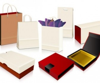 Empty Shopping Bag Packaging Vector Vector Art
