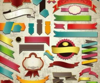 Classic Label Stickers 05 Vector Vector Art