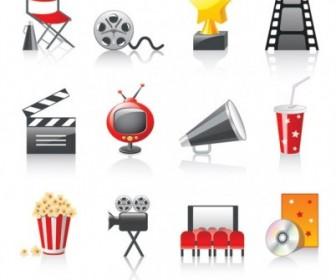 Movie Icon Vector 3 Icon Vector Graphics