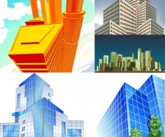 5 Office Building Vector Vector Art
