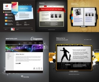 Five Sophisticated Web Template Vector Web Design Vector Graphics