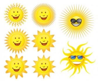Expression Vector Cute Sun Vector Art