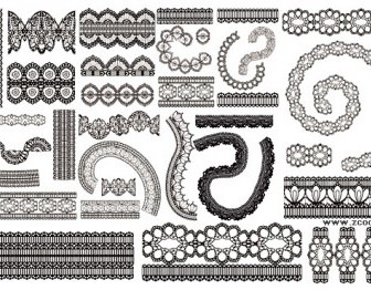 Lace Lace Pattern Vector 2 Pattern Vector Art