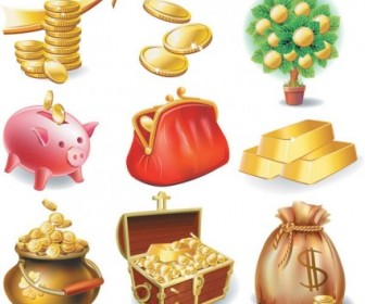 Commercial And Financial Icon Vector 3 Icon Vector Graphics