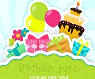 Cartoon Birthday Card 05 Vector Cartoon Vector Art