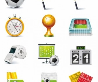 Football Match Vector Icon Set Icon Vector Graphics