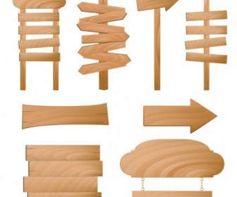 Beautifully Realistic Wood Signs Vector 3 Nature Vector Graphics