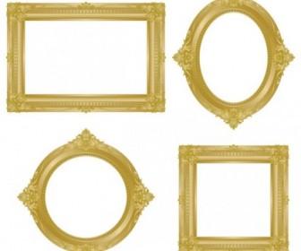 Antique Gold Frame 02 Vector Vector Art