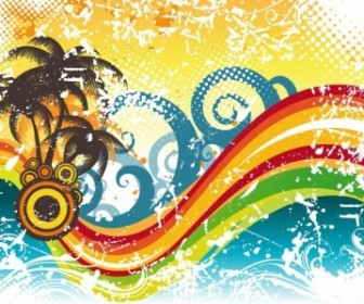 Abstract Wave Vector Illustration Abstract Vector Graphics