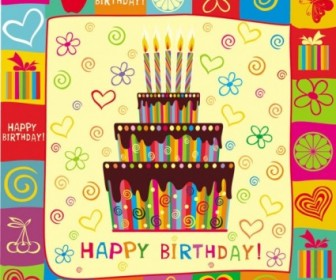 Exquisite Handpainted Elements Birthday 01 Vector Vector Art