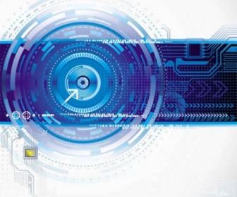 Modern Electronic Technology Background Vector Background Vector Art