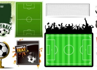 Football Theme Vector Vector Art