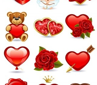 Romantic Love Element Vector Heart Vector Art