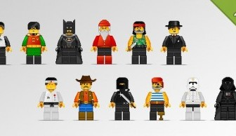 12 Lego Characters In Pixel Art Style Cartoon Vector Art