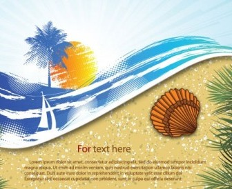 Summer Beach Background 06 Vector Background Vector Art